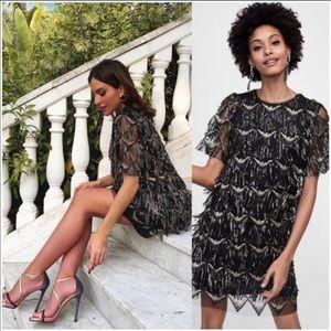 Zara fringed Sequin Dress sz:L